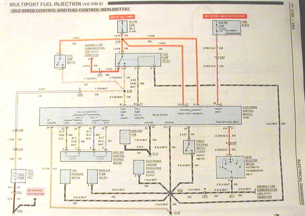 ElectricFuelPump85 1991 camaro wiring harness diagram wiring diagrams for diy car wiring diagram convertible top 1989 camaro rs at gsmx.co