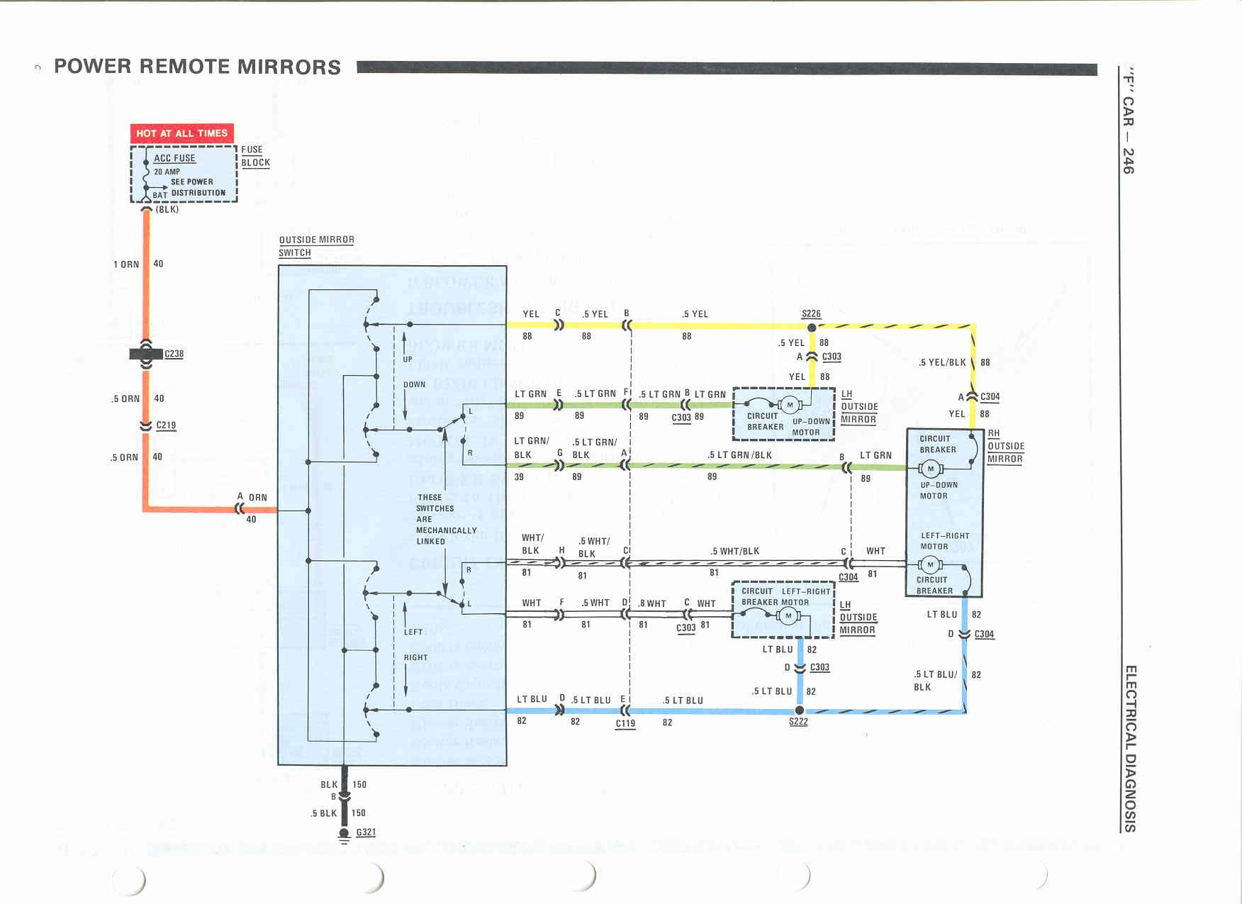 PowerMirrors1 camaro berlinetta wiring diagram shop manual 1987 camaro wiring diagram at bayanpartner.co