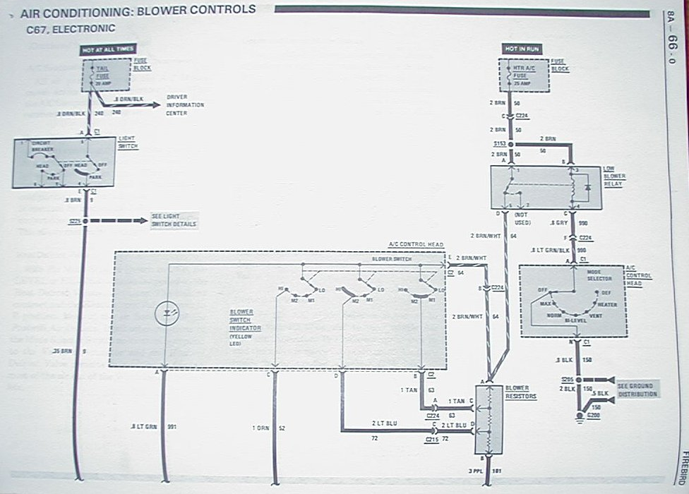 heater blower motor, resistor, relay, and more third  1995 chevy 1500 blower motor wiring schematic #12