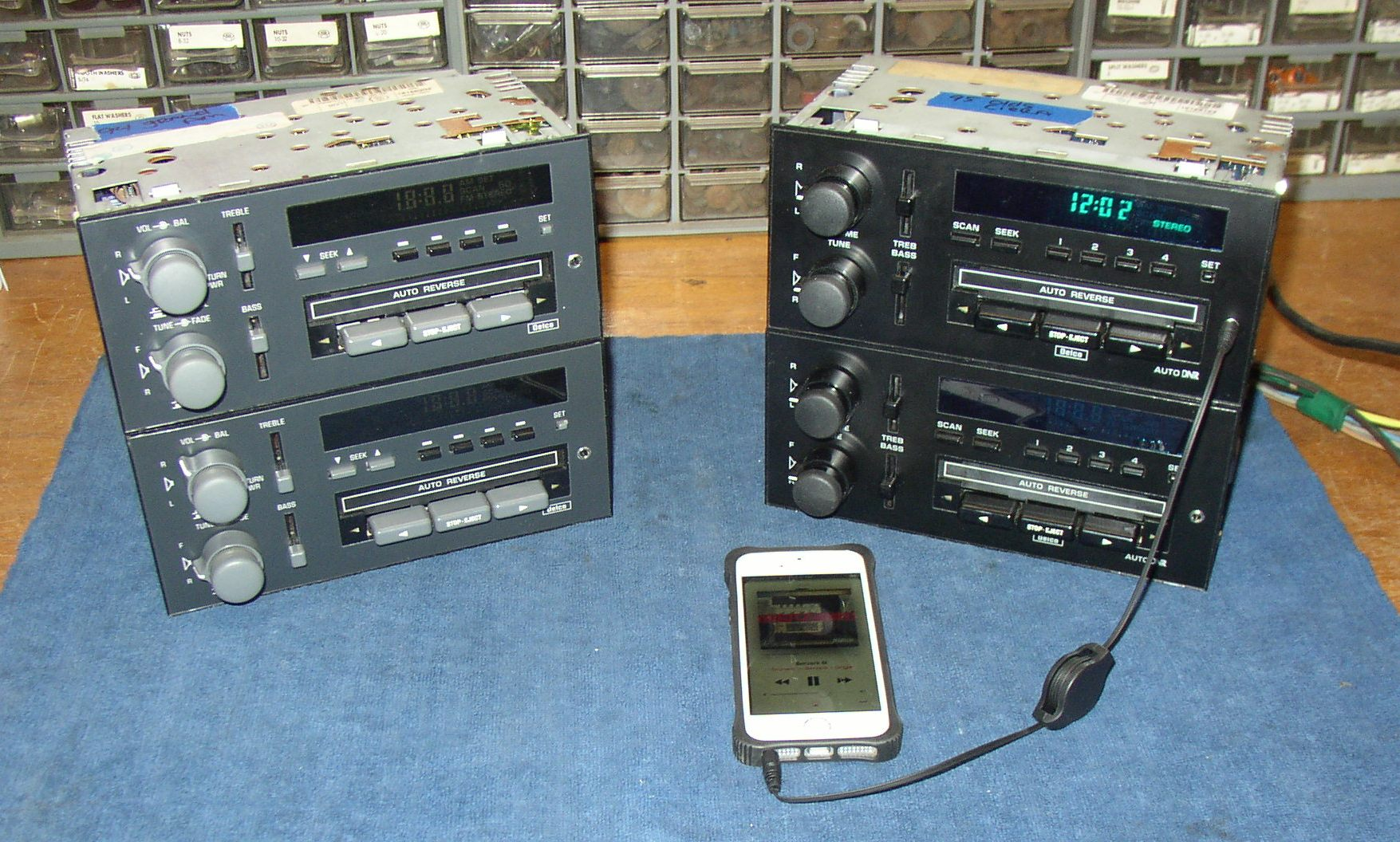 I've got several other type of 89s-90s GM head units too,.... some with  cassette, some with CD, some EQ, some with BOSE, some with AUX, some  Thirdgen some ...